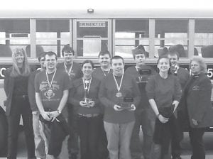 The quick recall team of the Letcher County Central High School academic team took first place in the Regional Governor's Cup.