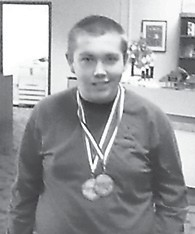 Cameron Wright, a member of the Letcher County Central High School academic team, took second in social studies in regional competition.