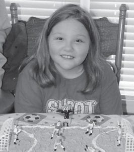 — Alexis Fields celebrated her ninth birthday on March 2. She is the daughter of Archie Wayne and Melissa Fields of Cowan. Her grandparents are Allen and Sylvania Whitaker of Jeremiah, Archie and Margaret Fields of Cowan, and Fred and Amanda Baldwin of Columbus, Ind.