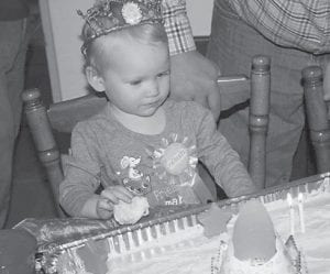 — Alissa Sylvia Rose Jent celebrated her second birthday March 1. She is the daughter of Gardner Allen and Jessica Jent of Beattyville, and has an older brother, Hayden Alexander Jent, and a younger brother, Zachary Arlin Jent. She is the granddaughter of Opal and David Jent of Blackey, and Joann and Larry Hall.