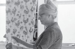 Mabel Kiser is seen at work in the Millstone Sewing Center in the early 1970s. (Photo by Phil Primack)