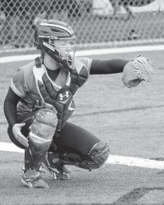Catcher Charity Niece has helped the Jenkins Lady Cavaliers get off to a strong 5-3 start in the young softball season. (Photo by Paul Stambaugh)