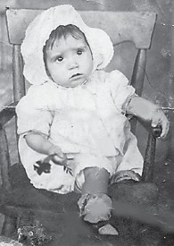 """Whitesburg correspondent Oma Hatton asks, """"Do you recognize this baby? She is not this pretty now. She's 82 years old."""""""