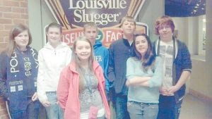 Letcher County students who recently participated in the Governor's Cup state competition in Louisville are (front row, left to right) Susie Caudill of Letcher Middle School, Kirsten Sexton of Arlie Boggs Elementary School, (back row) Katie Braswell of LMS, Brooke Saurer of Whitesburg Middle School, Ben Mason of LMS, Tyler Stacy of LMS and Treston Hughes of ABES. Not pictured is Dalton McCown of WMS.