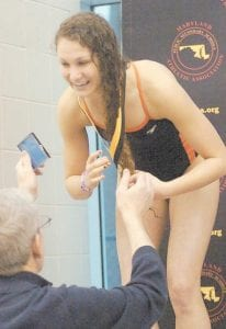 Brooke Bielecki won her second 50-yard freestyle Maryland high school swimming championship last month at the University of Maryland. The niece of Dr. Marlene Bielecki and Chuck Conatser of Whitesburg, she will swim at Davis & Elkins College in West Virginia next year.