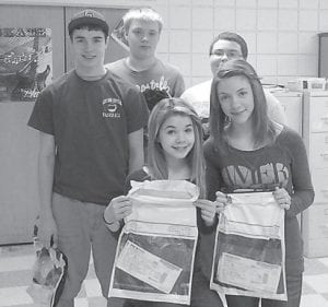 The Mexican Secretary of Tourism responded quickly to requests for information on his country from Whitesburg Middle School students. Pictured are Kris Watts, Josh Day, Harley Franks, Char-leigh Spangler and Katannah Fugate.