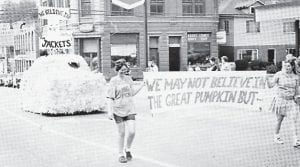 The first prize float in Whitesburg High School 1971-72 homecoming parade was presented by Tri-Hi-Y Club.
