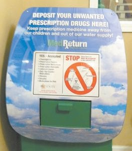 The City of Jenkins has teamed with the counter-drug initiative UNITE to install a pill disposal box at the entrance to Jenkins City Hall where outdated or unneeded medication can be safely disposed.