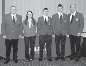 Three students at the Letcher County Area Technology Center participated in the State Skills/USA competition on April 2. Hannah Madden won a silver medal in Job Skills Demonstration and received the Finley Begley Scholarship. Pictured are (left to right) Skills adviser Casey Breeding, Hannah Madden, Jonathan Barnett, Dale Sturgill and Principal Danny Vance.