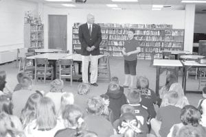 State Sen. Johnny Ray Turner visited Zachary Clay Hall at West Whitesburg Elementary School on April 11. Zach has served as page for Sen. Turner for four years. He wanted Turner to speak to third grade students at WWES and explain what he does as a senator. Since Zach has paged for Turner four times, he wanted Sen. Turner to be his page. Zach is the son of Charles and Brandee Hall.