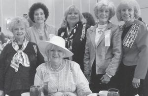Members of the Pine Mountain Chapter of the Daughters of the American Revolution recently attended the Kentucky Society State Conference. Pictured are (seated) Marsha Kincer Banks, (standing, left to right) Kay Kincer Amburgey, Vernell Gibson Mullins, R. Ann Whitaker Reynolds, Sally Fugate Caudill and Kaye Combs Moore. The chapter received first place awards in conservation, American heritage (fiber art) and women's issues. The Pine Mountain Chapter also received recognition for Honor Roll Reporting and Commemorative Events. Marsha Banks was named Outstanding Regent of 6th District. During the 117th State Conference, Ann Reynolds was elected Director of 6th District and Marsha Banks was elected Kentucky State Chaplin for the term of July 2013 to July 2016.
