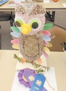 Arlie Boggs kindergarten student Addyson Scott made this owl.
