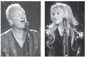 Fleetwood Mac's newest members, Lindsey Buckingham (left) and Stevie Nicks, joined in 1975. (AP photos)