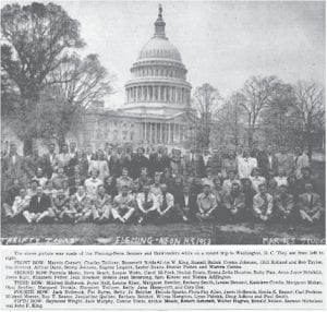 On Thursday, May 7, 1953, the Fleming-Neon High School senior class was in The Eagle after returning from its class trip to D.C.