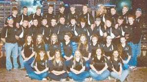 CHAMPION ARCHERS — Members of the Letcher County Central High School archery team are (front row, from left) Kirsten Gibson, Charity Slone, Hailey Stamper, Brandie Whitaker, Cheyenne Hitchcock, (second row) Victoria Bates, Taylor Collier, Danielle Sturgill, Hayley Mchone, Holly Baker, Robbie Gross, Lakelyn Cole, Whitney Stamper, (third row) Head Coach Mike Sexton, Dylan Wright, Aaron Creech, Tyler Cornett, Casey Cook, Austin Eversole, Jace Stewart, Jordan Webb, Robert Kizer, Colton Riffe, Joseph Ellish, Mackinze Fox, (fourth row) Tyler Mullins, Ryan Alzuraqi, Austin Whitaker, Chase Whurshimdt, Dakota Fernandez, Jordan Whitaker, Cody Kilgore, Sabrina Collins, Jordan Boggs, Eugene Brock and Asst. Coach David Brown. The team will compete in the NASP Nationals in Louisville on May 10 and May 11.