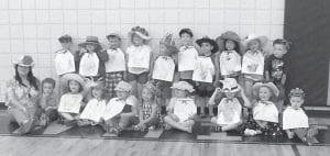 Melissa Addington is pictured with her afternoon preschool class. With her are (front row, left to right) Blayne Amburgey, Charleigh Hall, Aubrey Patterson, Allie Spencer, Kelsi Holbrook, Alexis Mullins, Cainan Lind, Ebony Richardson, Dustin Norman, Camden Cook, Triston Fuller, Parker Richardson, Skylar Sexton, Kaden Bates, Harrison Addington, Conner Hall, Amelia Roark, Payton Cornett and Gunner Holbrook.