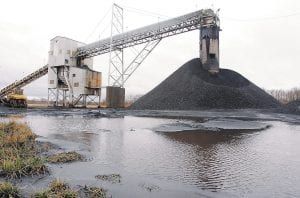 NOT EVERY REGION IS SUFFERING — While the coal industry is slumping in Central Appalachia, it is booming in the Illinois Basin, which includes western Kentucky. Shown here is Peabody Energy's Gatewood Mine near Coulterville, Ill. A new report says that Illinois coal, once shunned for its high sulfur content, is enjoying record demand overseas. Thirteen million tons of Illinois coal was exported last yearl, a five-fold increase from the 2.5 million tons shipped out of the U.S. in 2010. (AP Photo)