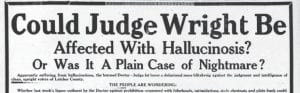 On May 31, 1943, Letcher County voters (excluding the young men away fighting in World War II) were scheduled to go to the polls to decide the question of whether alcoholic beverages could continue to be sold legally in the county. Among those wanting to keep liquor legal was County Judge Dr. B.F. Wright, whose front-page ad in the May 20, 1943 edition of The Eagle (below) drew an angry response from anti-liquor forces on May 27, 1943 (above).