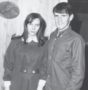 Linda and Larry Hatton are pictured when they were newlyweds, about 1968.