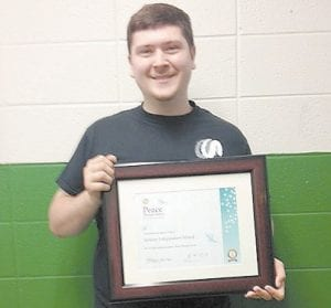 Pictured is Kevin Brashear, Interact Club president for 2012 – 2013.