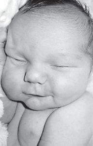 Derek Russell Jones was born May 13 to Mart E. and Aimee Elizabeth Mullins Jones of Williamsburg. His grandparents are Russell and Margaret Jones of Whitesburg, and Marty and Karen Mullins of Ermine. He is the great-grandson of Mickey Bentley of Seco.
