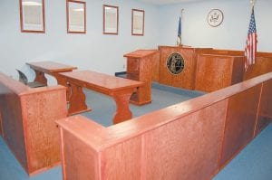 NEW ROOM, NO TEACHER — This mock courtroom was built at the Letcher County Area Technology Center as part of a new law enforcement and criminal justice program that was to be operated in conjunction with the Letcher County School System. The Letcher County Board of Education declined this week to pay the nearly $16,000 still needed to hire a teacher for the program.