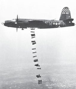 An American B-26 Marauder medium-bomber of the U.S. Army 9th Air Force, based in England, lost a rain of 26 100-pound bombs during a raid on German installations somewhere in France on May 31, 1944. Mayking native Ray Hogg piloted a Marauder for the 9th Air Force. Hogg told his story to his great-nephew Victor Annas before Hogg died on December 31, 2010. (AP Photo)