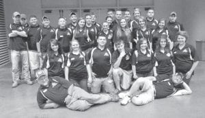 The Letcher County Central High School archery team placed eighth out of 48 teams at the National Archery in the Schools Program (NASP) world competition in St. Louis, Mo. over the weekend. Pictured are (front row, left to right) Assistant Coach David Brown, Head Coach Mike Sexton, (second row) Kirsten Gibson, Hailey Stamper, Dylan Wright, Jordan Webb, Brittany Whitaker, Charity Slone, Hayley Mchone, (third row) Jordon Whitaker, Austin Eversole, Aaron Creech, Colton Riffe, Lakelyn Cole, Joseph Ellish, Hayley Mullins, Whitney Stamper, Holly Baker, Taylor Collier, Brandie Whitaker, (back row) Austin Whitaker, Tyler Cornett, Eugene Brock, Tyler Mullins, Dakota Fernandez, Logan Polly, Chase Wurschmidt, Sabrina Collins, Cody Kilgore and Robert Kiser.