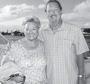 Steve and Vickie Hatton Underwood went on a dinner cruise while celebrating their 40th wedding anniversary on June 7 in Maui, Hawaii.