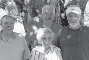 Virginia Brown is pictured with her sons Joe Myrel, Steven and Randy.