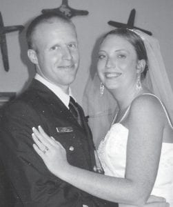 Joe and Misty Hatton Jones are pictured at their wedding. She is the daughter of Ida and Roger Hatton.