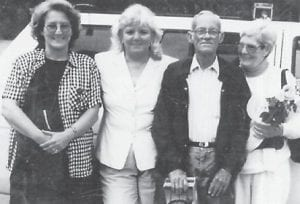 Pictured are (left to right) Joyce Hatton Buchanan, Sharon Hatton Mansak and the late Bill Hatton and wife Thelma.
