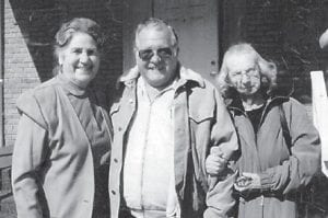 Whitesburg correspondent Oma Hatton was photographed coming out of church services with Elzie Ray Hatton and Hazel Hatton Hart in February, 2004.