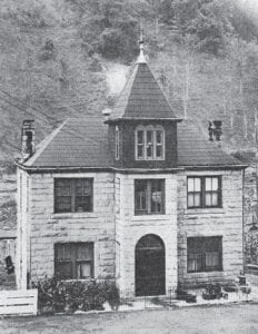 The old Letcher County Jail was built in 1908 and sat behind the courthouse on the lot now occupied by the sheriff 's office and water department.