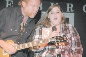 At top, country music star Lee Roy Parnell sang with Mountain Outreach Idol Contest winner Shelley Young of Letcher County.