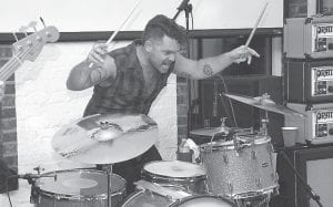 Drummer Michael Miley pounded the skins at Summit City last Thursday night.