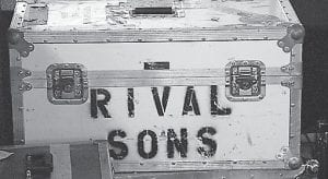 Road cases (above) and a setlist can mean only one thing: A rock show was in town. (All photos except setlist by Thomas Biggs)