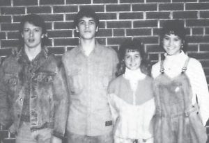 The 1987-88 junior class officers are (left to right) William Bledsoe, Travis Day, Sarah Hayes and Kim Brown.