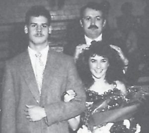 Homecoming Queen Tracy Combs and escort