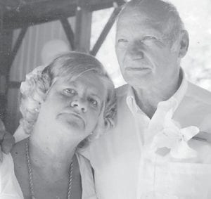 Shannon Banks and Carlos Holbrook are pictured at their wedding a few months ago. She is the daughter of Louise Shepherd and the late Castel Shepherd.