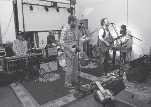 Truth & Salvage Company, a Nashvillebased band that was formed in California, performed before a nice-sized crowd at Summit City in Whitesburg on Saturday night. The band's mixture of country and rock has brought it many fans, including the Black Crowes' Chris Robinson, who produced one of the band's albums. (Photo by Thomas Biggs)