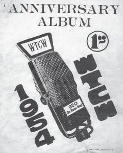 """Seen in this photo is the cover of an """"anniversary album"""" printed for WTCW-AM a year after the station went on the air in Whitesburg. The album was printed by the old Eagle Printing Company."""