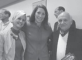 CAMPAIGNING IN MOUNTAINS — Allison L. Grimes brought her campaign for a Senate seat to the Mountain Arts Center in Prestonsburg recently. There was a large turnout for the event, and among those attending the rally were Jenkins Mayor G.C. Kincer and his wife Sherry.