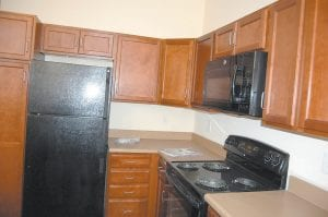 Each of the apartments, which range in rent costs from $350 to $450 per month for a one-bedroom unit to $450 to $550 for a two-bedroom unit, has a fully equipped kitchen with a self-cleaning electric range, an energy efficient dishwasher, energy efficient refrigerator with an icemaker, and a built-in microwave oven.