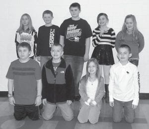 Students from Martha Jane Potter Elementary School who participated in a spelling bee recently are (top, left to right) Sarah McAuley, fifth grade; Cooper Bailey, third grade; Joby Johnson, fifth grade; Dezaree Reynolds, fourth grade; Emma Quillen, fourth grade; (bottom) Hayden Brashear, fourth grade; Colin Bates, third grade; Kadence Branham, third grade, and Luke Holcomb, fifth grade.