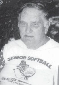 Contributing writer Everett Vanover is pictured after he pitched the first game of a double-header for the Suisun Valley Golden Senior Slow Pitch Softball Club.