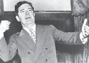 "Estevah Webb, daughter of Mount ain Eag l e founder N.M. Webb, was impressed by Senator Huey ""The Kingfish"" Long, left, during her 1934 visit to the U.S. Senate in Washington, D. C. (AP Photo)"