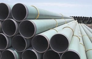 PROMISES NOT BEING KEPT — Hundreds of drilling pipes are stacked at a rail center in Gardendale, Texas. America's plan to use more natural gas to run power plants, make chemicals, drive vehicles and heat homes has been called into question by 2014's very tough winter. (AP Photo/Pat Sullivan)