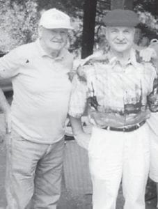 The late Clyde Hatton and the late Guy Palumbo attended a Howard family reunion.