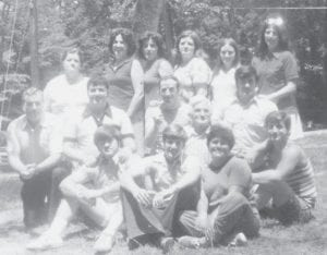 The family of the late Cinda and Bill Howard posed for this photograph about 1980. Then there were 16 in the family, now there are 12.